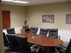 Our conference room in North Kingstown, RI
