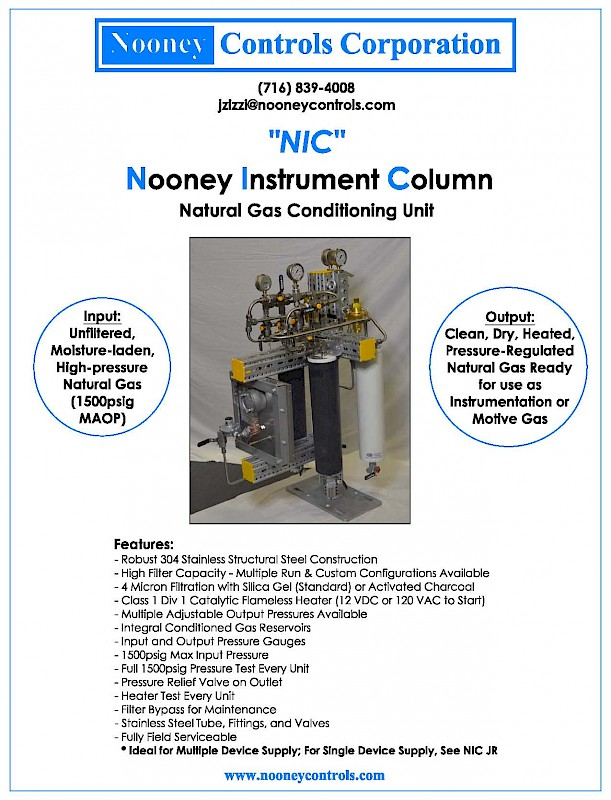 Nooney Instrument Column | Nooney Controls Corp